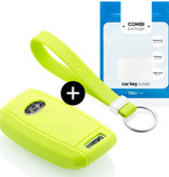 Kia Car key cover - Silicone Protective Remote Key Shell - FOB Case Cover - Lime