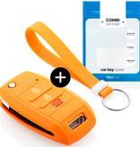 Kia Autoschlüssel Hülle - Silikon Schutzhülle - Schlüsselhülle Cover - Orange