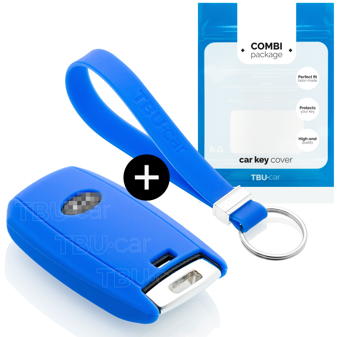 Kia Car key cover - Silicone Protective Remote Key Shell - FOB Case Cover - Blue