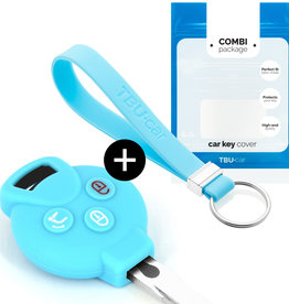 Smart Car key cover - Light blue