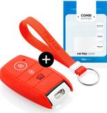Kia Autoschlüssel Hülle - Silikon Schutzhülle - Schlüsselhülle Cover - Rot