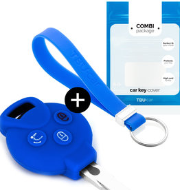 Smart Car key cover - Blue