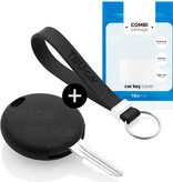 Smart Car key cover - Silicone Protective Remote Key Shell - FOB Case Cover - Black
