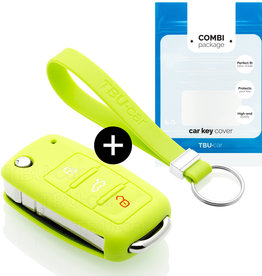 Skoda Car key cover - Lime