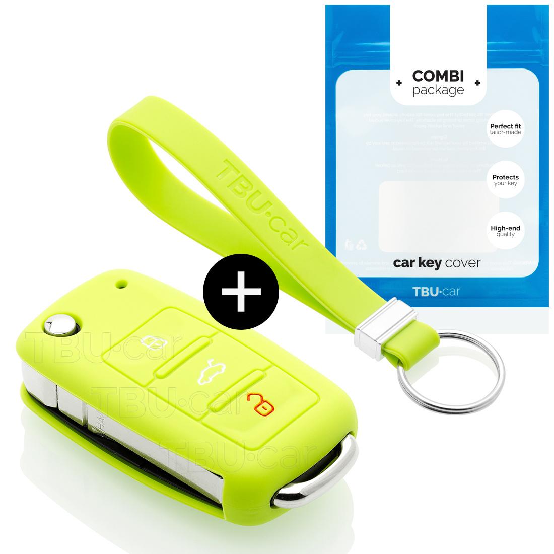 Skoda Autoschlüssel Hülle - Silikon Schutzhülle - Schlüsselhülle Cover - Lindgrün