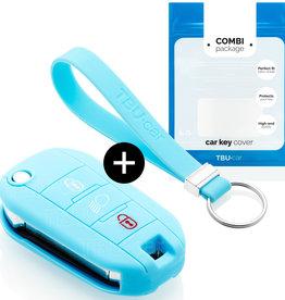 Peugeot Car key cover - Light Blue