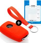 TBU car TBU car Sleutel cover compatibel met Seat - Silicone sleutelhoesje - beschermhoesje autosleutel - Rood