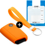 Seat Car key cover - Silicone Protective Remote Key Shell - FOB Case Cover - Orange