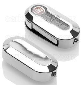 Fiat Schlüsselhülle - Silber Chrom