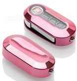 TBU car Autoschlüssel Hülle für Fiat 3 Tasten - Schutzhülle aus TPU - Auto Schlüsselhülle Cover in Rosa Chrom
