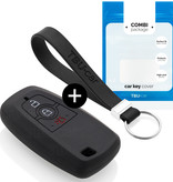 Ford Car key cover - Silicone Protective Remote Key Shell - FOB Case Cover - Black