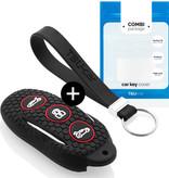 TBU car TBU car Autoschlüssel Hülle kompatibel mit Tesla 3 Tasten (Keyless Entry) - Schutzhülle aus Silikon - Auto Schlüsselhülle Cover in Schwarz