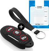 Tesla Autoschlüssel Hülle - Silikon Schutzhülle - Schlüsselhülle Cover - Schwarz