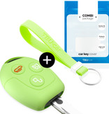TBU car TBU car Sleutel cover compatibel met Ford - Silicone sleutelhoesje - beschermhoesje autosleutel - Glow in the Dark