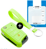 TBU car TBU car Sleutel cover compatibel met Skoda - Silicone sleutelhoesje - beschermhoesje autosleutel - Glow in the Dark