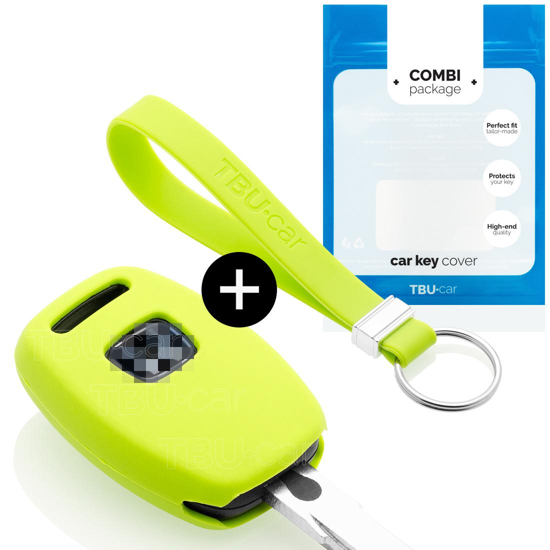 TBU car TBU car Sleutel cover compatibel met Honda - Silicone sleutelhoesje - beschermhoesje autosleutel - Lime groen