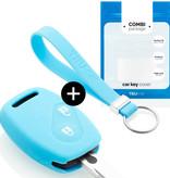 TBU car TBU car Sleutel cover compatibel met Honda - Silicone sleutelhoesje - beschermhoesje autosleutel - Lichtblauw