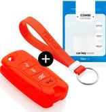 TBU car TBU car Sleutel cover compatibel met Jeep - Silicone sleutelhoesje - beschermhoesje autosleutel - Rood