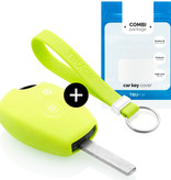 TBU car TBU car Car key cover compatible with Dacia - Silicone Protective Remote Key Shell - FOB Case Cover - Lime green