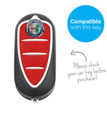 TBU car TBU car Sleutel cover compatibel met Alfa Romeo - Silicone sleutelhoesje - beschermhoesje autosleutel - Wit
