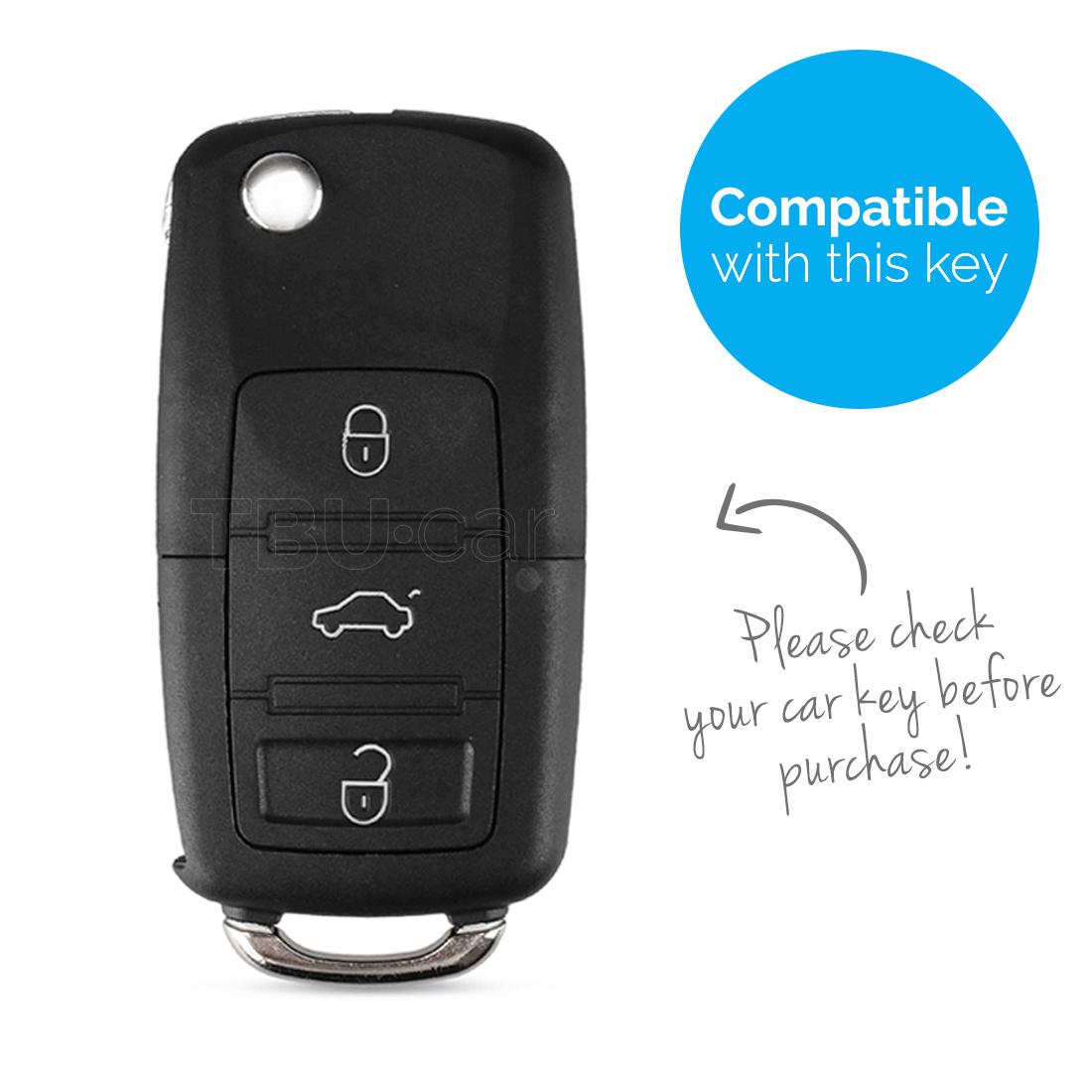 TBU car TBU car Autoschlüssel Hülle kompatibel mit Audi 3 Tasten - Schutzhülle aus Silikon - Auto Schlüsselhülle Cover in Rosa