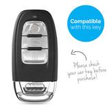 TBU car Autoschlüssel Hülle für Audi 3 Tasten (Keyless Entry) - Schutzhülle aus Silikon - Auto Schlüsselhülle Cover in Schwarz