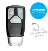TBU car Autoschlüssel Hülle für Audi 3 Tasten (Keyless Entry) - Schutzhülle aus Silikon - Auto Schlüsselhülle Cover in Hellblau