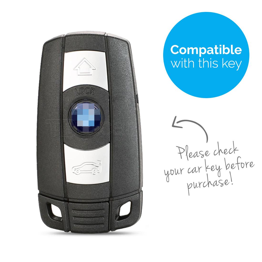 TBU car TBU car Sleutel cover compatibel met BMW - Silicone sleutelhoesje - beschermhoesje autosleutel - Glow in the Dark