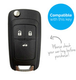TBU car TBU car Car key cover compatible with Chevrolet - Silicone Protective Remote Key Shell - FOB Case Cover - White
