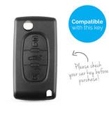 TBU car TBU car Sleutel cover compatibel met Fiat - Silicone sleutelhoesje - beschermhoesje autosleutel - Lime groen