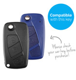 TBU car TBU car Sleutel cover compatibel met Fiat - Silicone sleutelhoesje - beschermhoesje autosleutel - Zebra