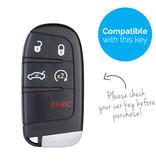 TBU car TBU car Autoschlüssel Hülle kompatibel mit Fiat 5 Tasten (Keyless Entry) - Schutzhülle aus Silikon - Auto Schlüsselhülle Cover in Lindgrün