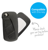 TBU car TBU car Sleutel cover compatibel met Ford - Silicone sleutelhoesje - beschermhoesje autosleutel - Wit