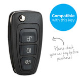 TBU car TBU car Autoschlüssel Hülle kompatibel mit Ford 3 Tasten - Schutzhülle aus Silikon - Auto Schlüsselhülle Cover in Violett