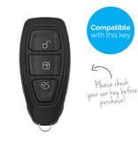TBU car Autoschlüssel Hülle für Ford 3 Tasten (Keyless Entry) - Schutzhülle aus Silikon - Auto Schlüsselhülle Cover in Orange