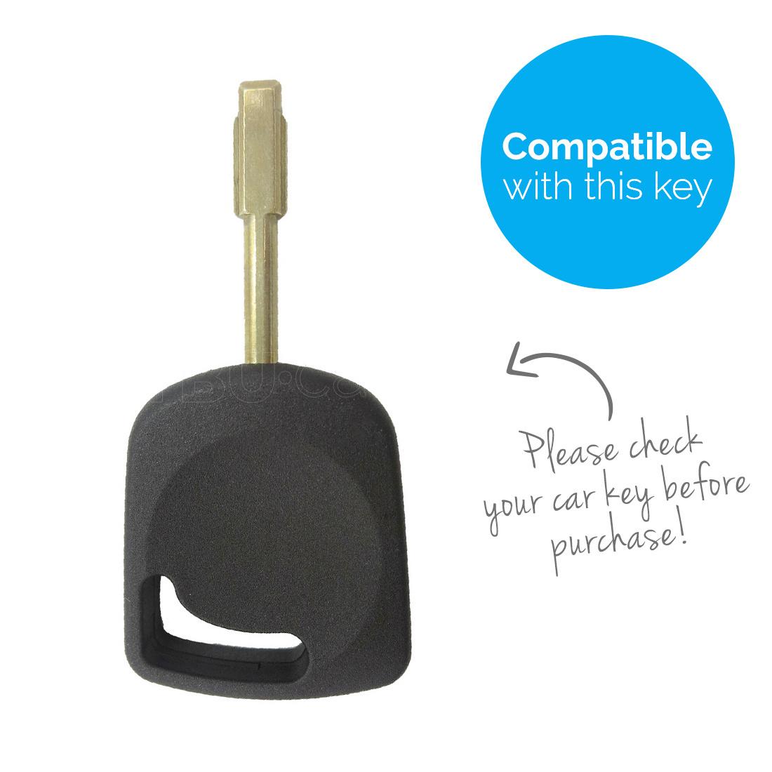 TBU car Autoschlüssel Hülle für Ford Standardschlüssel - Schutzhülle aus Silikon - Auto Schlüsselhülle Cover in Orange