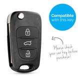 TBU car TBU car Autoschlüssel Hülle kompatibel mit Hyundai 3 Tasten - Schutzhülle aus Silikon - Auto Schlüsselhülle Cover in Violett