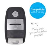 TBU car Autoschlüssel Hülle für Hyundai 3 Tasten (Keyless Entry) - Schutzhülle aus Silikon - Auto Schlüsselhülle Cover in Schwarz