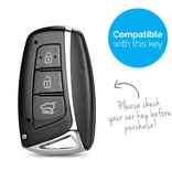 TBU car TBU car Sleutel cover compatibel met Hyundai - Silicone sleutelhoesje - beschermhoesje autosleutel - Fluor Roze