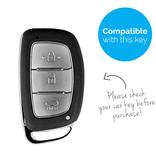 TBU car TBU car Sleutel cover compatibel met Hyundai - Silicone sleutelhoesje - beschermhoesje autosleutel - Blauw