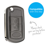 TBU car TBU car Sleutel cover compatibel met Land Rover - Silicone sleutelhoesje - beschermhoesje autosleutel - Zwart