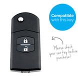 TBU car TBU car Sleutel cover compatibel met Mazda - Silicone sleutelhoesje - beschermhoesje autosleutel - Roze