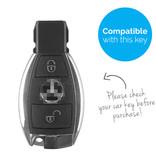 TBU car Autoschlüssel Hülle für Mercedes 2 Tasten - Schutzhülle aus Silikon - Auto Schlüsselhülle Cover in Im Dunkeln leuchten