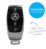 TBU car Autoschlüssel Hülle für Mercedes 3 Tasten (Keyless Entry) - Schutzhülle aus TPU - Auto Schlüsselhülle Cover in Gold