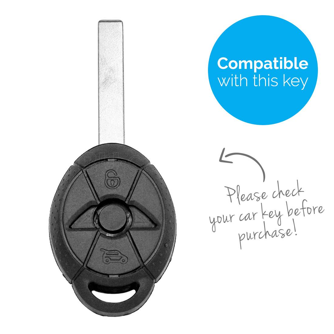 TBU car TBU car Autoschlüssel Hülle kompatibel mit Mini 3 Tasten - Schutzhülle aus Silikon - Auto Schlüsselhülle Cover in Rot