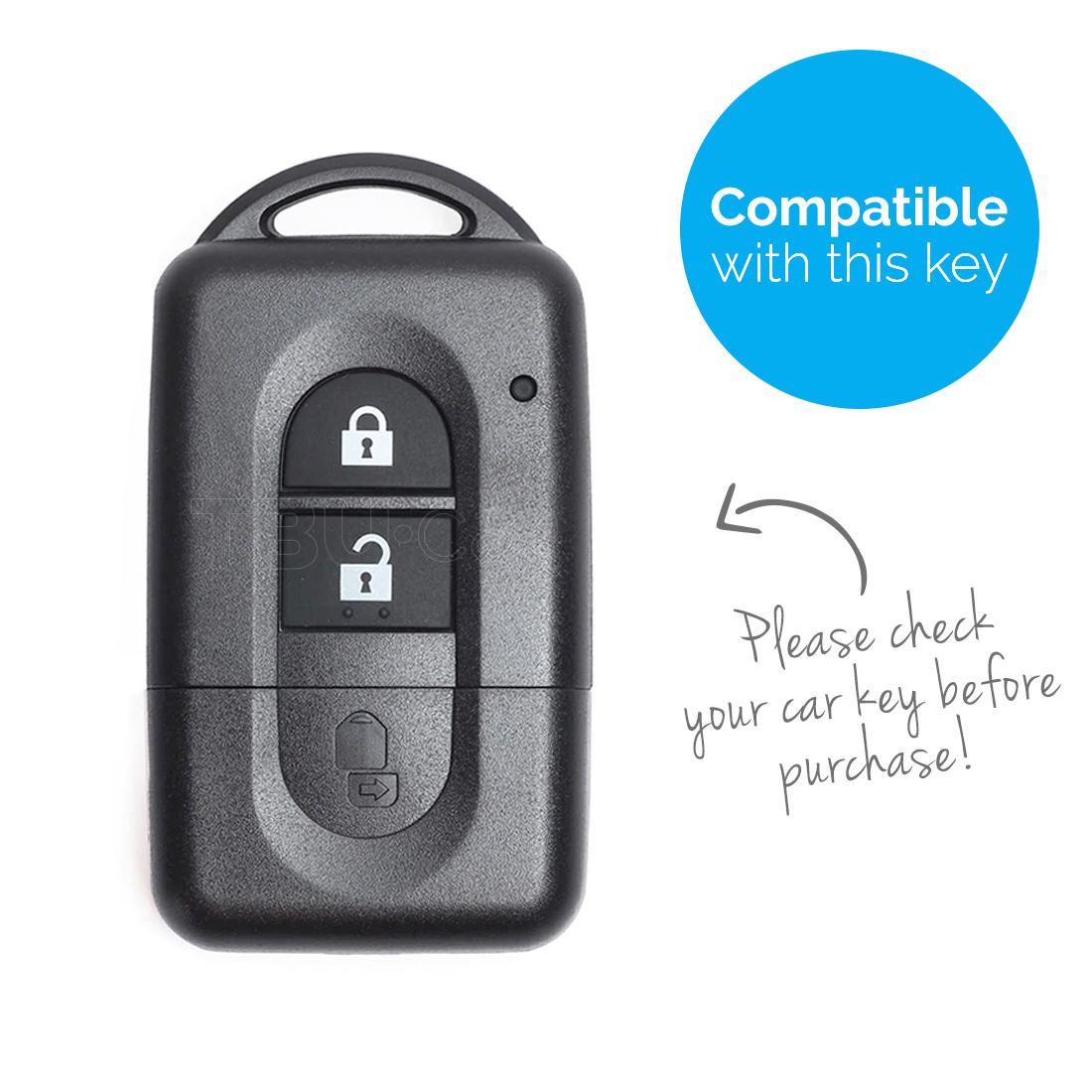 TBU car TBU car Sleutel cover compatibel met Nissan - Silicone sleutelhoesje - beschermhoesje autosleutel - Roze