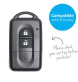 TBU car TBU car Autoschlüssel Hülle kompatibel mit Nissan 2 Tasten (Keyless Entry) - Schutzhülle aus Silikon - Auto Schlüsselhülle Cover in Weiß