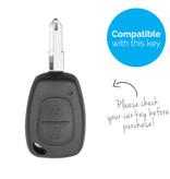 TBU car TBU car Autoschlüssel Hülle kompatibel mit Nissan 2 Tasten - Schutzhülle aus Silikon - Auto Schlüsselhülle Cover in Im Dunkeln leuchten