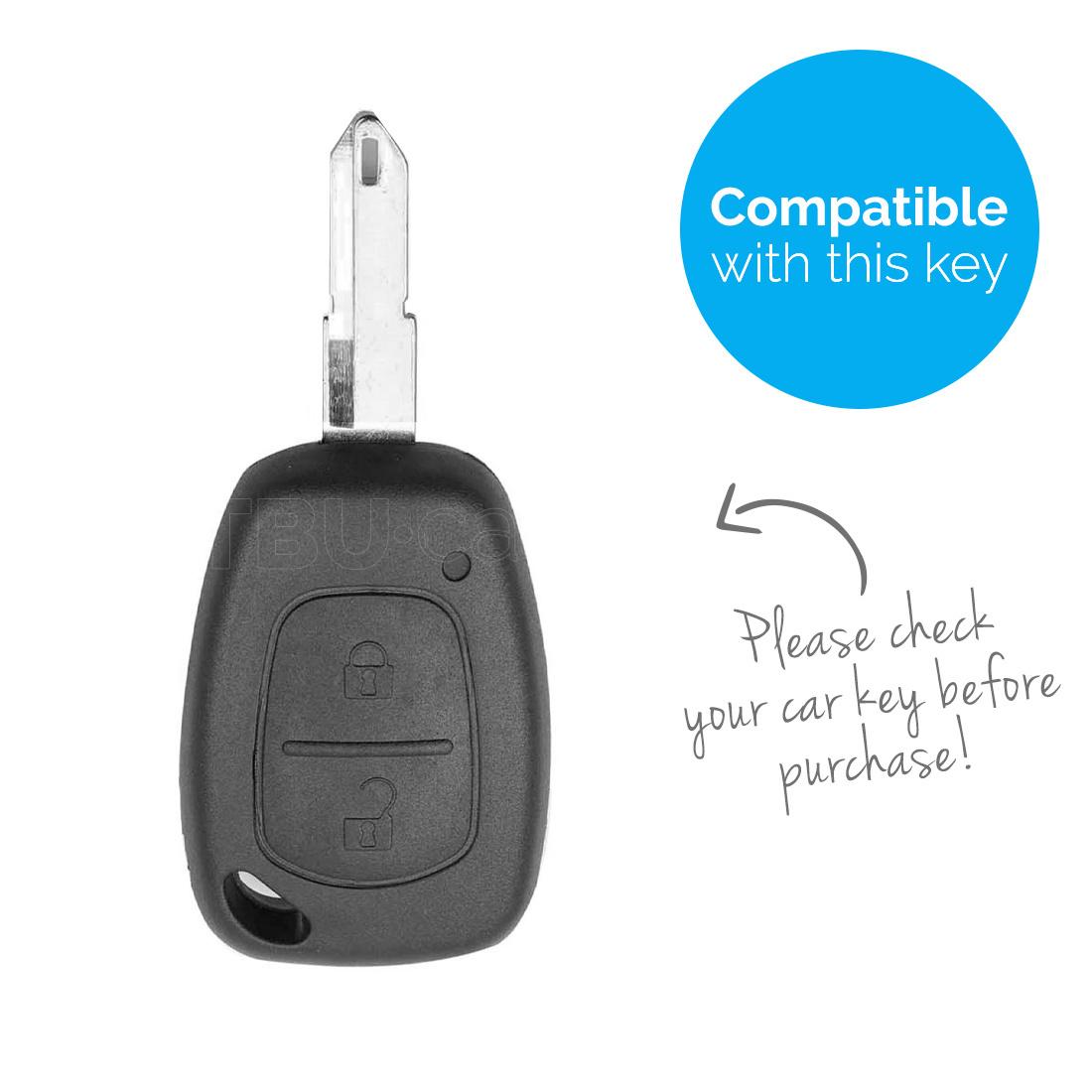 TBU car Autoschlüssel Hülle für Nissan 2 Tasten - Schutzhülle aus Silikon - Auto Schlüsselhülle Cover in Violett