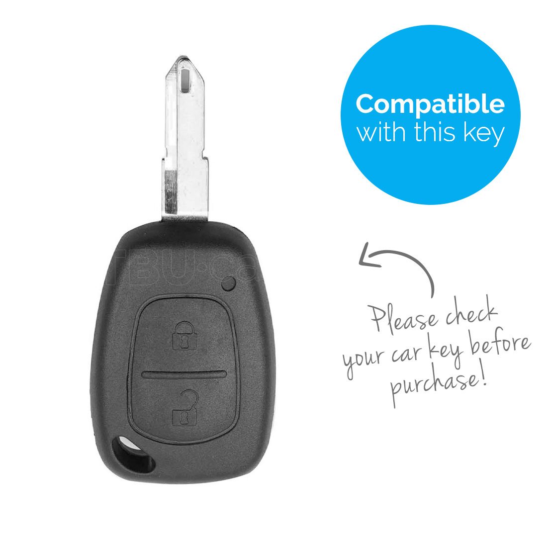 TBU car Autoschlüssel Hülle für Nissan 2 Tasten - Schutzhülle aus Silikon - Auto Schlüsselhülle Cover in Hellblau